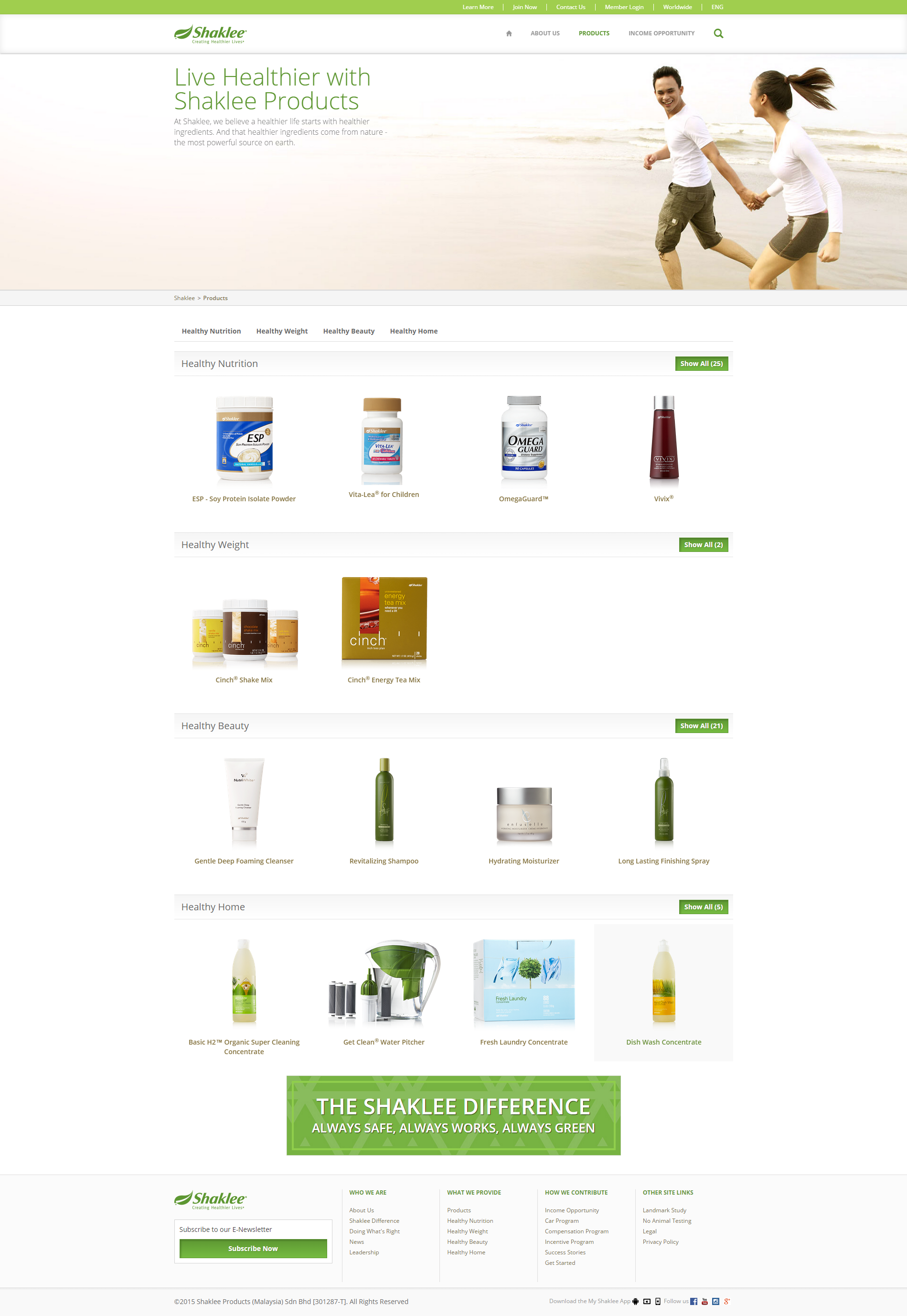 Products   Shaklee Malaysia