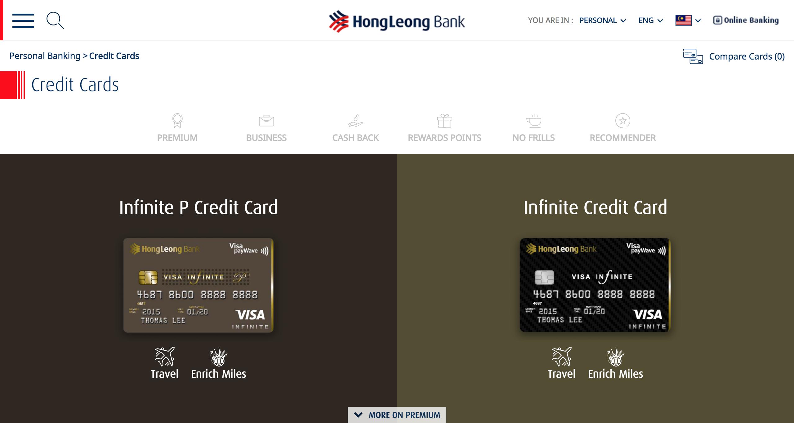 Hong Leong Bank Malaysia   Credit Cards List (1)